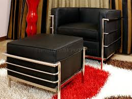 Modern Furniture Living Room Sets Leather Le Corbusier Style Modern 4pc Living Room Set