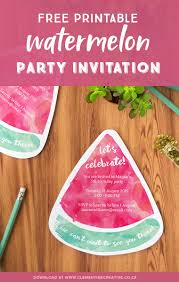 How To Make Printable Invitations Free Printable Watermelon Party Invitations Download The