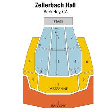 Unfolded Zellerbach Hall Seating Chart Zellerbach Hall
