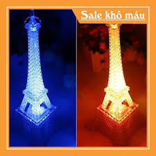 Đèn LED chuyển màu hình tháp Eiffel trang trí bàn học