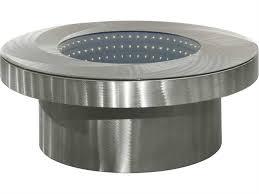 Nova Vortex 42 Round Brushed Aluminum Clear Infinity Tunnel