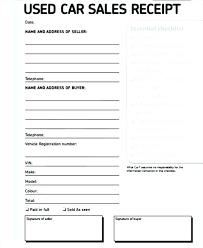 hand written receipt template second hand car receipt car sale invoice hand written receipt for