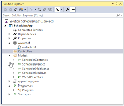 dhtmlxScheduler with ASP.NET Core Scheduler Docs