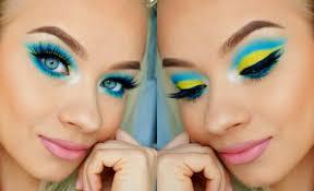 colorful summer makeup tutorial 2018