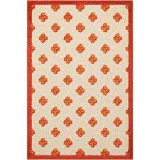 aloha red 3 ft x 4 ft indoor outdoor area rug
