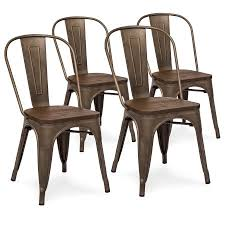 distressed metal furniture. Best Choice Products Set Of 4 Industrial Distressed Metal Bistro Dining Side Chairs W/ Wood Furniture N