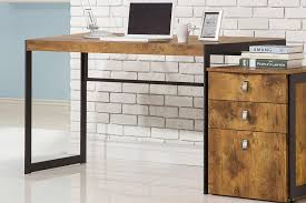 coaster 800655 estrella writing desk in metal finish with wood top main image