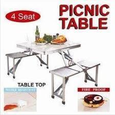 Aluminum Picnic Tables Free Umbrella Aluminium Foldable Tables