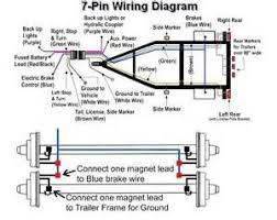 best 25 trailer light wiring ideas on pinterest electrical plug trailer wiring color code at Trailer Light Diagram