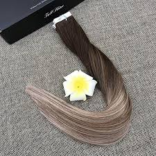 Full Shine Color Chart Tape Hair Extention 100 Human Hair Top Quality Ramy Hair
