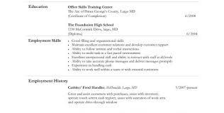 food service cashier job description for resume food server job description