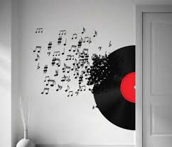 cute music decoration ideas 4 notes wall art decals vinyl record  on wall art vinyl records with cute music decoration ideas 4 notes wall art decals vinyl record