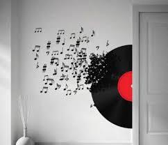 cute music decoration ideas 4 notes wall art decals vinyl record  on wall art using vinyl records with cute music decoration ideas 4 notes wall art decals vinyl record