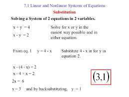 7 1 linear and nar systems of equations ppt