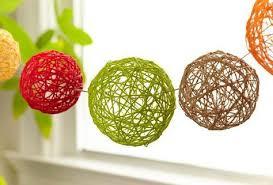 Yarn Ball Decorations Diy
