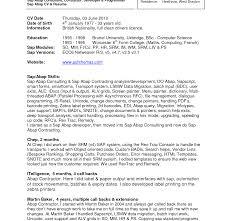Charming Sap Abap Wm Resume Ideas Entry Level Resume Templates