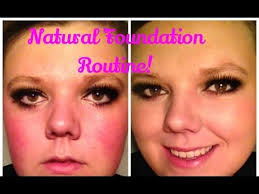 bare minerals before and after. natural foundation routine! using the bare minerals matte foundation! before and after! bare minerals after e