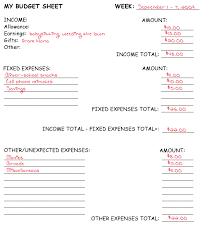 Sample Budget Worksheet Image Collections - Worksheet For Kids Maths ...