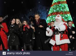 President Obama Christmas Tree Lighting Us President Barack Obama Joins Santa Claus And Entertainers