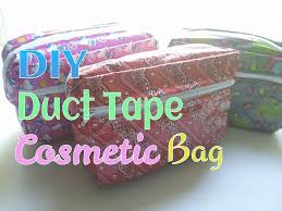 diy duct tape cosmetic bag tutorial you