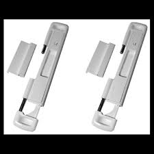 2 x double bolt lock for sliding glass doors protection for your patio door