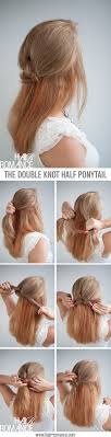 Half Ponytail Hairstyles Knot Your Average Half Ponytail Hairstyle Tutorial Hair Romance