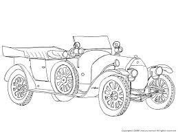 アルファロメオの下絵自動車のぬりえクラシック車