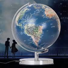 table globe. 25cm led globe table lamp geography teaching satellite population distribution world map light kids gift