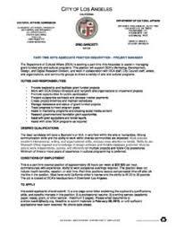Project Manager Job Description Part Time Arts Associate Project Manager Job Department