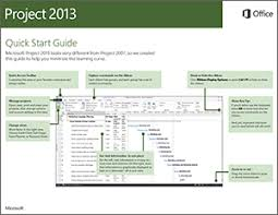 project management quick reference guide project 2013 quick start guide project