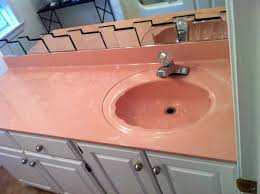 old bathroom sink counter resurfacing pink before surface renew cabinets