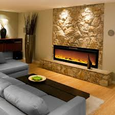 architecture electric fireplace 60 inch popular canyon heights simulated stone white fe9021 pertaining to 0