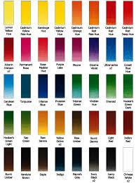 45 Half Pan Colour Chart Color Chart Art Diagram
