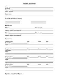 ... Spectacular Idea Resume Worksheet 3 Printable Resume Worksheet Free ...