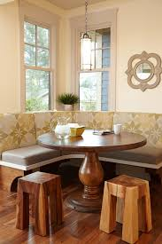 round hall table dining room contemporary with midcentury armchairs