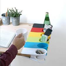 creative drink cup coffee glass holder stand clip desk table home office use desk cup holder high quality free in storage trays from home