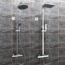 Regendusche Duschset Chrom Duschsystem Duscharmatur überkopfbrause Mit Handbrause