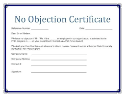 no objection certificate for employee no objection certificate sample from employer dtk templates