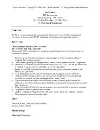Resume Objective Samples Musiccityspiritsandcocktail Com