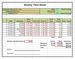 Employee Weekly Time Sheets Timesheet Excel Templates 1 Week 2 Weeks And Monthly Versions