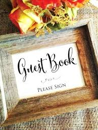 Wedding Guest Book Signs Guestbook Sign Template Printable Guest