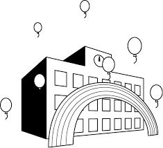 イラストポップ 学校のイラスト 文化祭no27風船の無料素材