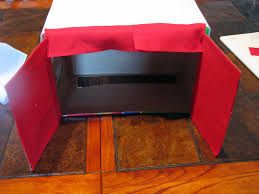 how to make a puppet theater from a recycled box