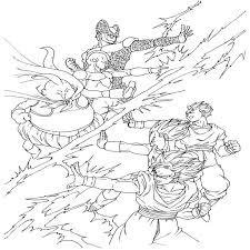 Coloriage Dragon Ball Za Imprimer
