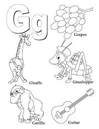 my a to z coloring book letter g coloring page
