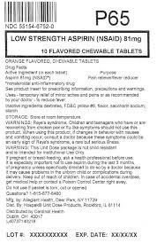 Childrens Aspirin Tablet Chewable Cardinal Health Inc