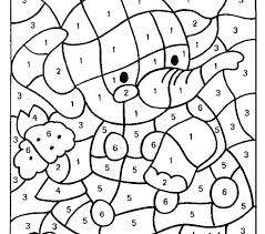 Printable Color By Number Pages Free Number Coloring Pages Coloring