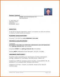 Download Format Of Resume Sop Proposal