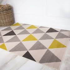 ochre yellow gray boho geometric living room rugs small large area rug