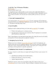 Free Resume Templates Examples Top 10 Samples Sample Of In 81